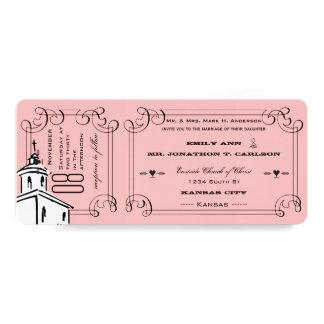 Foto cualquier boda romántico del boleto de la invitación 10,1 x 23,5 cm