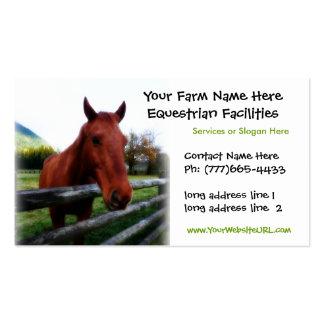 Foto cuarta del caballo para los servicios tarjetas de visita