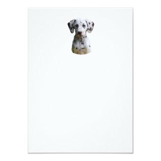 Foto dálmata del perro de perrito invitación 11,4 x 15,8 cm