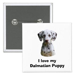 Foto dálmata del perro de perrito pin cuadrada 5 cm