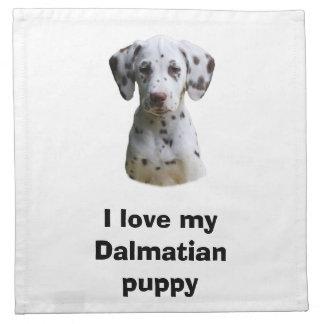 Foto dálmata del perro de perrito servilletas