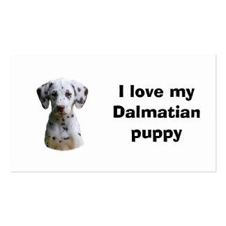 Foto dálmata del perro de perrito tarjetas de visita