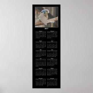 Foto de 2017 del calendario que se besa pájaros póster