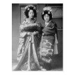 Foto de 2 de geisha de los chicas japoneses del postales