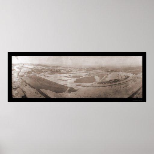 Foto de acero aérea 1908 de Indiana Impresiones