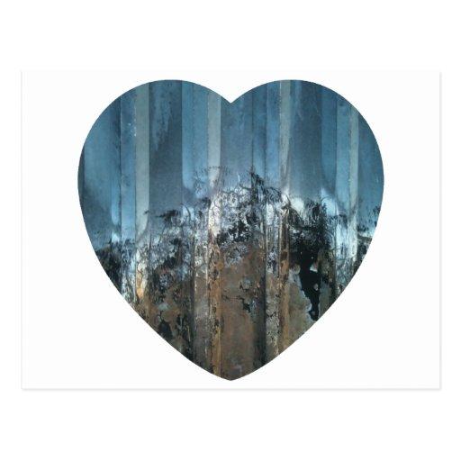 foto de acero del corazón del amor tarjetas postales