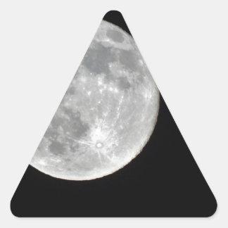 Foto de alta resolución de la Luna Llena Pegatina Triangular