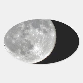 Foto de alta resolución de la Luna Llena Pegatina Ovalada
