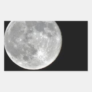 Foto de alta resolución de la Luna Llena Pegatina Rectangular