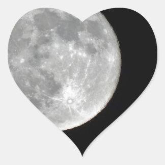 Foto de alta resolución de la Luna Llena Pegatina En Forma De Corazón