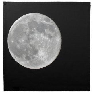 Foto de alta resolución de la Luna Llena Servilletas