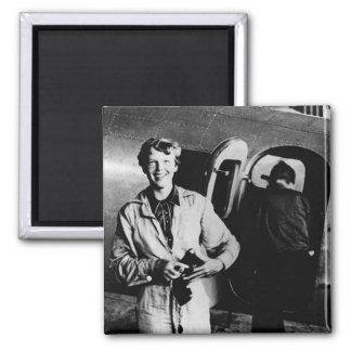 Foto de Amelia Earhart del vintage Imán De Frigorífico