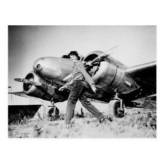 Foto de Amelia Earhart del vintage Postales