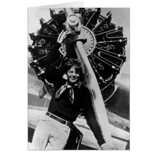 Foto de Amelia Earhart del vintage Tarjeta De Felicitación
