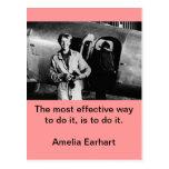 Foto de Amelia Earhart del vintage Tarjeta Postal