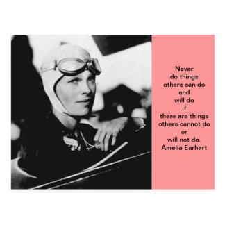 Foto de Amelia Earhart del vintage Postal