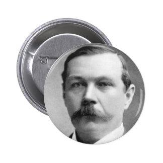 Foto de Arthur Conan Doyle Pin Redondo De 2 Pulgadas