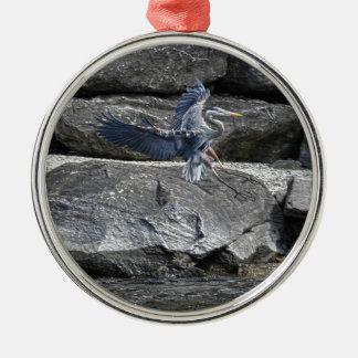 Foto de aterrizaje de Birdlover de la fauna de la Adorno Navideño Redondo De Metal