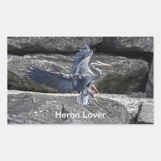 Foto de aterrizaje de Birdlover de la fauna de la Pegatina Rectangular