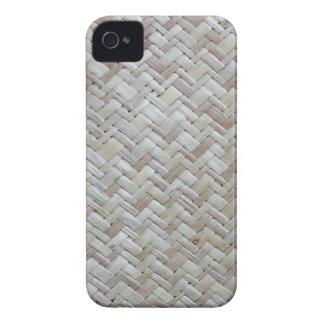 Foto de bambú de madera de modelo de zigzag del Case-Mate iPhone 4 carcasa
