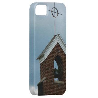 Foto de Bell de la cruz de la aguja de la iglesia  iPhone 5 Cárcasa