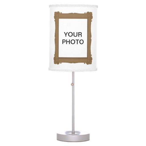 Foto de Brown/lámpara del marco