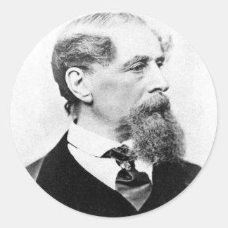 Foto de Charles Dickens Etiqueta Redonda