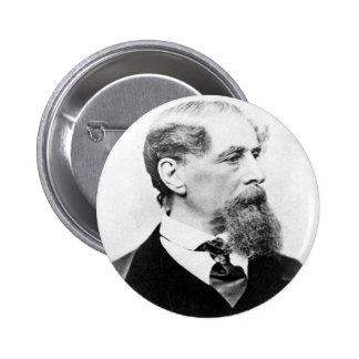 Foto de Charles Dickens Pin Redondo De 2 Pulgadas