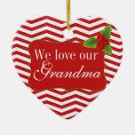 Foto de Chevron de la abuela de las Felices Navida Ornaments Para Arbol De Navidad