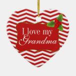 Foto de Chevron de la abuela de las Felices Navida Adornos De Navidad
