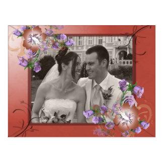 Foto de color de malva y de lujo elegante del pers tarjeta postal