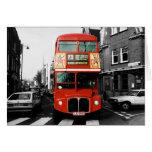 Foto de color de punto del autobús de Londres Felicitaciones
