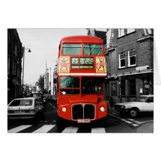 Foto de color de punto del autobús de Londres Tarjeta De Felicitación