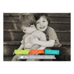 Foto de corrimiento llena de la tarjeta de la foto comunicados personalizados