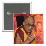 Foto de Dalai Lama/Dalai Lama Tíbet 6 Pin Cuadrado
