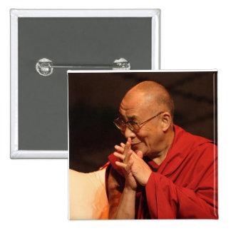 Foto de Dalai Lama/Dalai Lama Tíbet 7 Pin Cuadrado