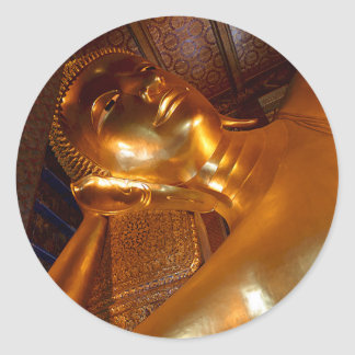 Foto de descanso del templo budista del ~ de Buda Pegatina Redonda