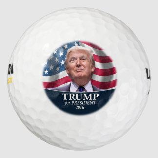 Foto de Donald Trump - presidente 2016 Pack De Pelotas De Golf