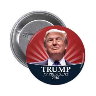 Foto de Donald Trump - presidente 2016 Pin Redondo 5 Cm