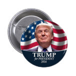 Foto de Donald Trump - presidente 2016 Pin Redondo De 2 Pulgadas