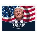 Foto de Donald Trump - presidente 2016 Tarjetas Postales
