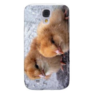 foto de dos de Rhode Island polluelos del rojo Funda Para Galaxy S4