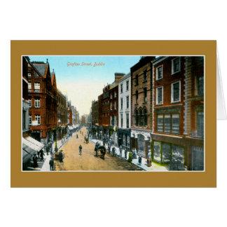 Foto de Dublín de la calle de Grafton del color de Tarjeta De Felicitación