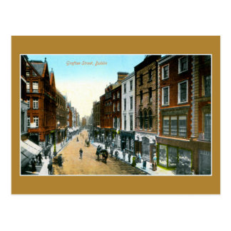 Foto de Dublín de la calle de Grafton del color de Tarjeta Postal