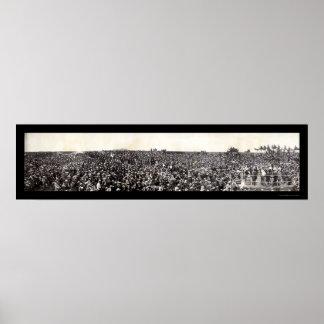 Foto de encajonamiento 1907 de los escuderos de la poster