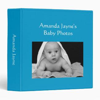 """Foto de encargo azul brillante del álbum de foto carpeta 1 1/2"""""""