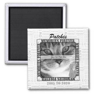 Foto de encargo conmemorativa del mascota del gato imán cuadrado