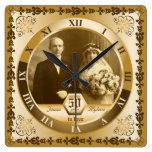 Foto de encargo del aniversario de boda de oro ado relojes