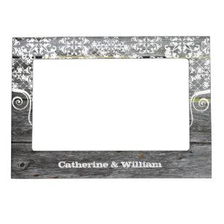 Foto de encargo del boda de la cerca elegante rúst marcos magneticos de fotos