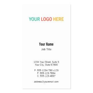 Foto de encargo del producto del logotipo vertical tarjetas de visita